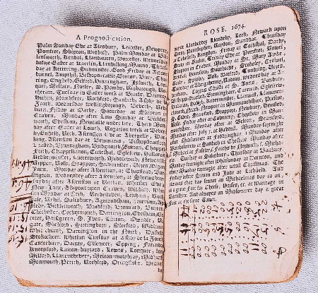1647 Almanac Open Notations