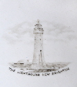 Lighthouse New Brighton Ribbon Plate
