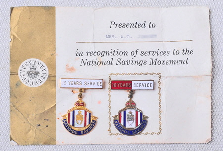National Savings Movement Service Badges
