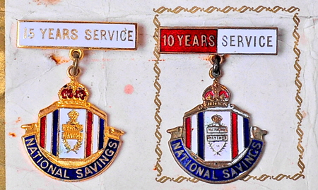 National Savings Service Badges