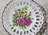 Pair of Pierced Floral Plates